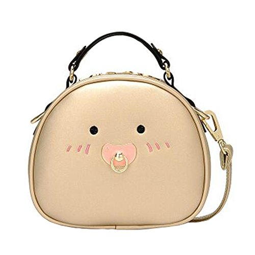 Girls Elegant Single Shoulder Strap Bag Fashion Purse gold