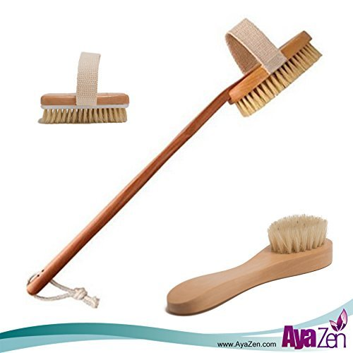 Dry Body Brush With Detachable Handle And Dry Brush For Face-Premium Dry Skin Brushing Improves Skins Health And Beauty