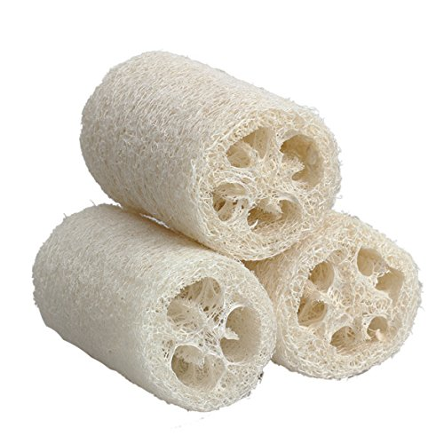 Home 3x Natural Loofah Luffa Loofa Bath Body Shower Sponge Scrubber