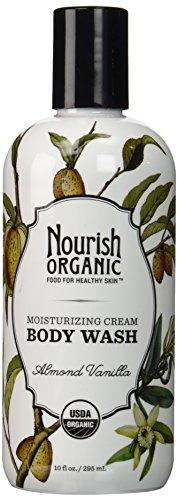 Nourish Organic Moisturizing Cream Body Wash Almond Vanilla 10 Fluid Ounce
