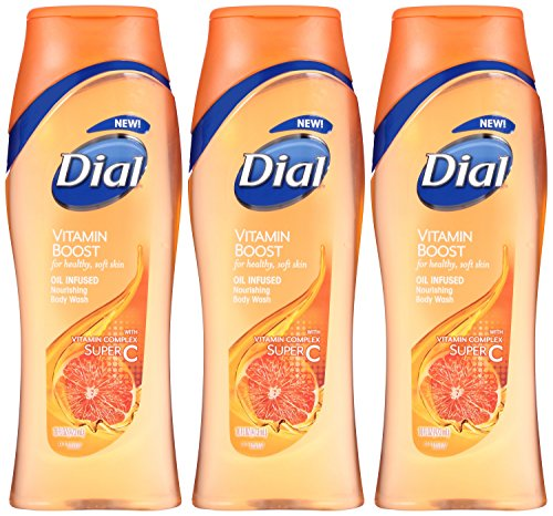 Dial Vitamin Boost Oil Infused Nourishing Body Wash Super C 16 Ounce Pack of 3