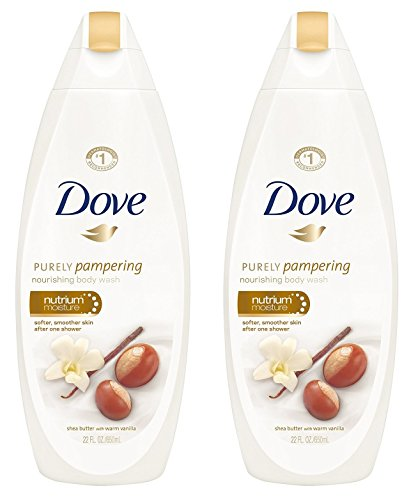Dove Purely Pampering Nourishing Body Wash - Shea Butter With Warm Vanilla - Net Wt 22 FL OZ 650 mL Per Bottle - Pack of 2