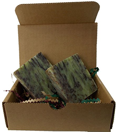 Mint Chocolate Swirl Natural Soap - Handmade All Natural - Vegan  2 Bars