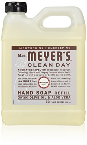 Earth Friendly Mrs Meyers Liquid Hand Soap Refill 33 Oz Lavender Scent6 pack
