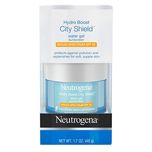 Neutrogena Hydro Boost City Shield Water Gel with Hydrating Hyaluronic Acid Antioxidants and Broad Spectrum SPF 25 Sunscreen Oil-Free Alcohol-Free Non-Comedogenic 17 oz