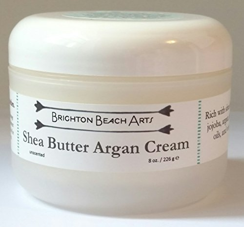 Unscented Shea Butter Argan Whipped Body Butter for SENSITIVE Rough Dry Flaky Hard and Cracked Skin