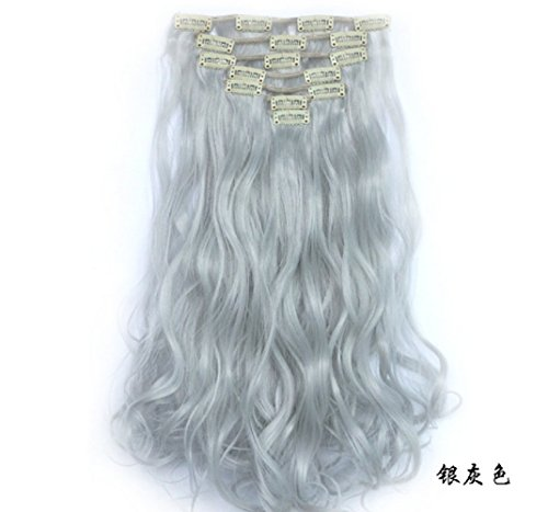 Lola Hair 20&quot -22&quot Silver Gray Hair Clip In Extensions