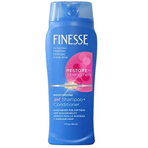 Finesse 2 in 1 Moisturizing Shampoo and Conditioner 13 oz Pack of 3