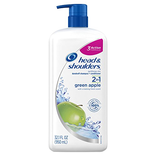 Head Shoulders Green Apple 2-in-1 Anti-Dandruff Shampoo and Conditioner 321 FL OZ Pack of 4
