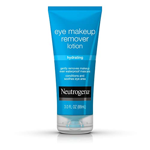 Neutrogena Hydrating Eye Makeup Remover Lotion Gentle Daily Makeup Remover with Skin-Soothing Aloe and Cucumber Extracts to Remove Even Waterproof Mascara Fragrance-Free 3 oz