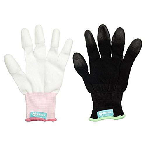 Apalus Professional Heat Resistant Glove for Hair Styling Heat Blocking for Curling Flat Iron and Curling Wand Suitable for Left and Right Hands,2 PCS Pack
