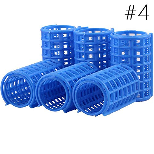 Plastic Hair Rollers Hair Curlers DIY Hair Salon Curlers Rollers Tool Soft Large Hairdressing Tools 681012pcs M031436pcs