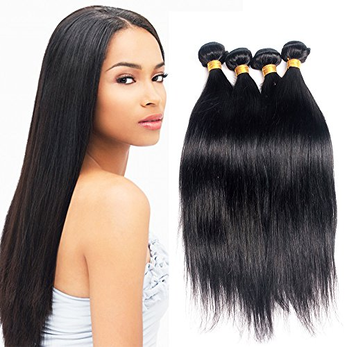 Mike Mary Virgin Brazilian Hair Extensions 4 Bundles 400g Silky Straight 7A Unprocessed Natural Color Virgin Brazilian Hair Weaves 16 18 20 22