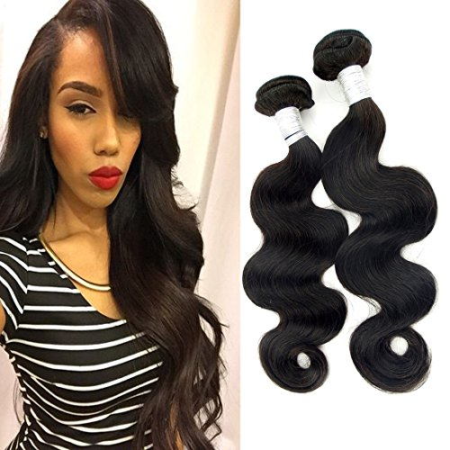 Echo Beauty Hair Extensions 6A Grade Brazilian Hair Human 2 Bundles Hair Weft Body Wave Human Hair Weave 18-20