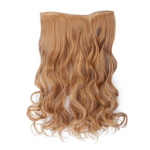 Hair Extension Wig 5 Clips Long Curly One-piece Hair Extension Wig Piece Traceless Clip In False Hair Piece2427