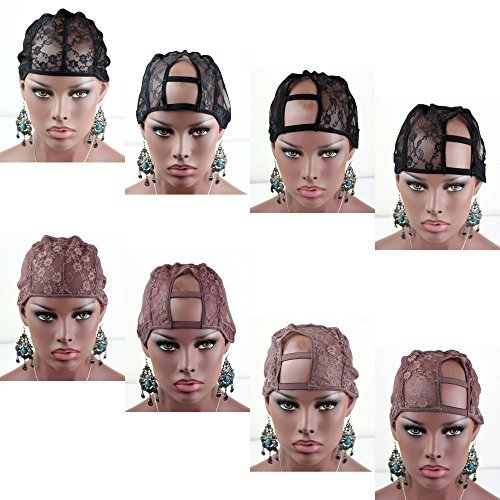 Dreambeauty Black and Brown Color Lace Wig Cap with Adjustable StrapFull cap and U part Cap by Esee Wigs