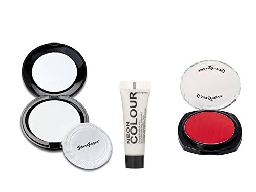 Stargazer Halloween Set White Pressed Powder Red Eyeshadow White Body Paint