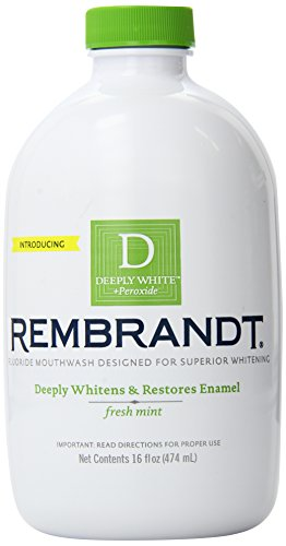 Rembrandt Deeply White Whitening Mouthwash With Fluoride