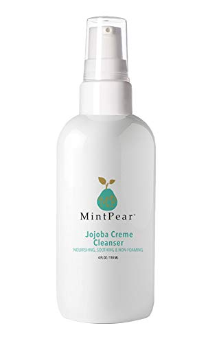 MintPear jojoba oil Facial Cleanser  Cream Anti Aging Breakout Blemish Wrinkle Reducing Cream Face Wash  Clears Pores on Oily Dry Sensitive Skin with Organic Natural Ingredients  4 oz