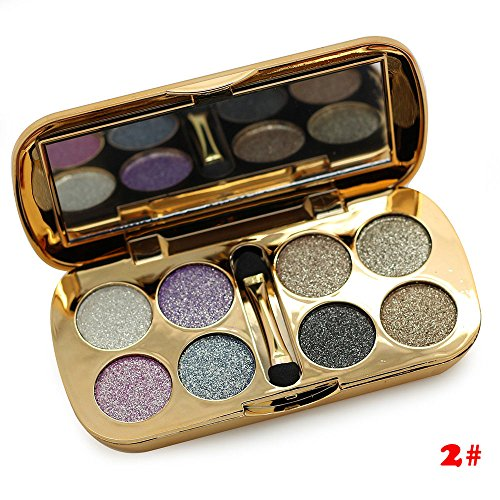 TF-Duan 3D Eyeshadow Glitter 8 Colors Eye Shadow Palette Professional Eyes Beauty Make Up Smoky Eye Glitter Shadow  2