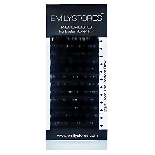 EMILYSTORES Eyelash Extensions 020mm Thickness C Curl Length 10mm Silk Mink Fake Eye Lashes In One Tray