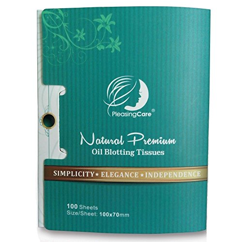 Natural Bamboo Charcoal Oil Absorbing Tissues - 100 Counts Easy Take Out Design - Top Oil Blotting Paper Premium Handy Face Blotting Sheets - Facial Skin Care or Make Up Must Have
