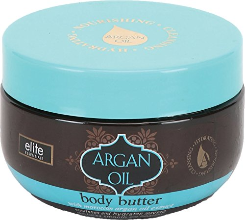 Body Butter 85oz with Moroccan Argan Oil Extract- Nourishes and Hydrates for Smoother and Healthier Skin