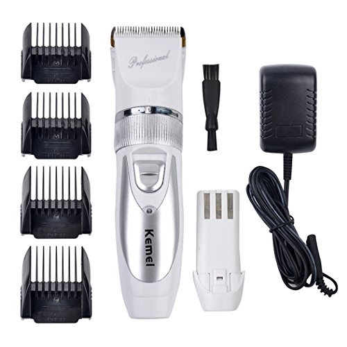inkint Professional Electric Hair Clipper Rechargeable Hair Trimmer for Men Baby Hair Cutting Machine Titanium Blade Beard Trimmer Kit  4 Combs  2 Batteries