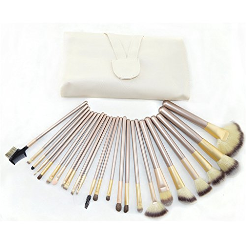 Vedar Beauty 24pcs Premium Synthetic Kabuki Makeup Brush Set Cosmetics Foundation Blending Blush Eyeliner Face Powder Brush Makeup Brush Kit