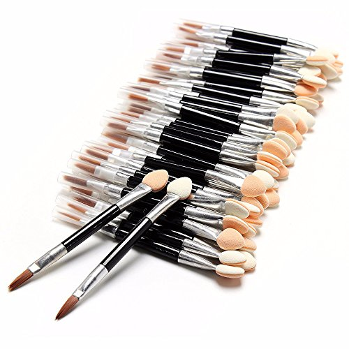 50 Pcslot Applicator Double-Ended Cosmetic Brushes Women Makeup Disposable Eyeshadow Eyeliner Sponge