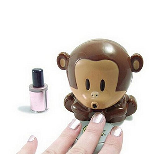 CINEEN Nail Polish Blower Dryer  Cute Monkey Shaped Manicure Nail Polish Blower Dryer Polished Nails For Manicures