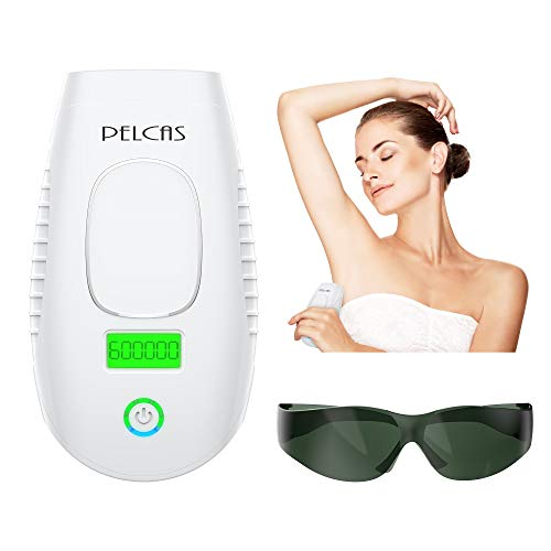 IPL Hair Removal Device 600000 Flashes PELCAS Laser Hair Removal Permanent Hair Remover Professional and Painless for Face Armpits Arm Chest Back Bikini Line and Legs Home Use