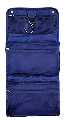 Toiletry Bag for Men and Travel Cosmetic Bag for Women by Roomi All in One Toiletry Organizer Get this Stylish Multifunctional Travel Kit for Smart Convenient Travelling Navy