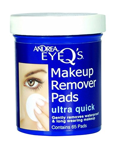 Andrea Eye Qs Ultra Quick Eye Makeup Remover Pads 65-Count Pack of 6