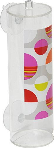 Evideco 6700362 Eclats Cylindrical Acrylic Cotton Makeup Pad Dispenser 23 x 23 Multicolored