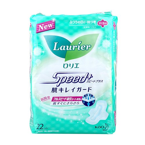 LAURIER Speed Plus Soft Mesh Sanitary Napkin with Wings 22 Count