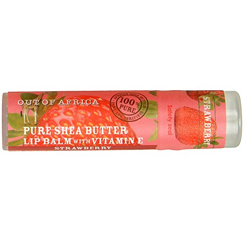 Out of Africa Organic Shea Butter Lip Balm with Vitamin E Strawberry 025 oz 70 g - 2pc