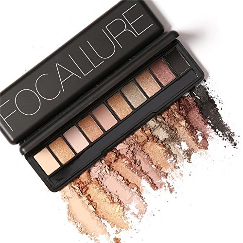 Focallure Makeup Palette Natural Eye Makeup Light Ten Colors Eye Shadow Makeup Shimmer Matte Eyeshadow Palette Set 4pcsset