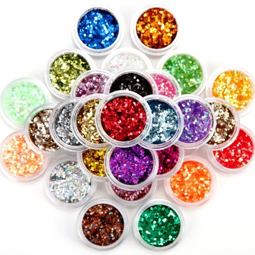 30 Nail Art Acrylic Fine Glitter Powder Dust Sequins