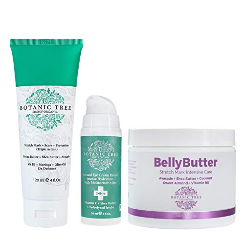 Kit Stretch Mark Cream for Pregnancy Perfect For Moms- Stretch Mark Removal Belly Butter Cream for Stretch Marks and Drench Face Hydration 24Hrs for Pregnant Women-Pack of 3- From 6370 to 4459