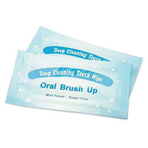 Grinigh Finger Slip-on Disposable Teeth Wipes for Easy Dental Cleaning  200 Count Oral Brush Ups Ideal for Pre and Post Teeth Whitening  Model TWA-TW001