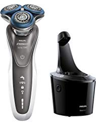Philips Norelco - Series 7000 - Shaver 7700 Wet and Dry Mens Rechargeable Electric Shaver Model S772084 With Beard Trimmer Attachment and SmartClean System - Silver  Black