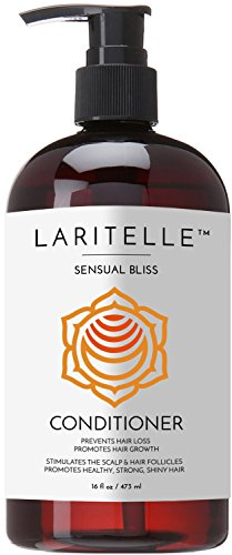 Laritelle Organic Conditioner Hair Loss Prevention Anti-Breakage Split Ends Treatment Argan Oil Rosemary and Palmarosa NO GMO Sulfates Gluten Alcohol Parabens Phthalates 16 oz