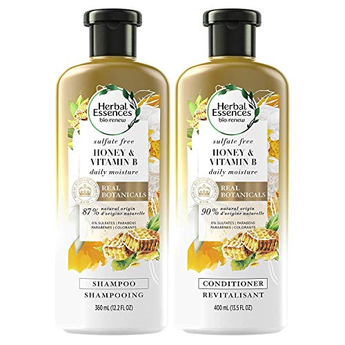 Herbal Essences Sulfate Free Shampoo and Conditioner Kit With Natural Source Ingredients BioRenew Honey Vitamin B Color Safe 135 122 fl oz Kit
