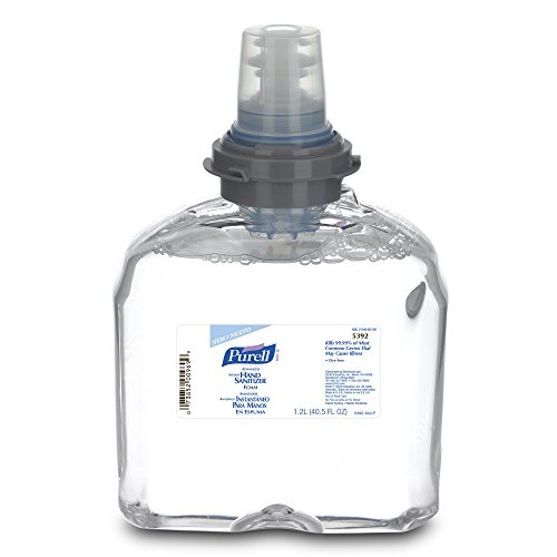PURELL 5392-02 Advanced TFX Foam Instant Hand Sanitizer Refill - 1200mL Clear Case of 2